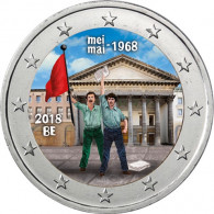 Belgien 2 Euro Sondermünze  2018 Studentenrevolte Mai 1968 Gedenkmünzen Münzkatalog bestellen