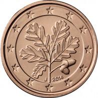 Deutschland 2 Cent 2014 Mzz. J