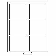 331319 -  Muenzenbox XL 2 x 3 Einteilung