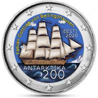 Estland 2 Euro 2020 bfr. 200. Jahrestag der Entdeckung der Antarktis in Farbe
