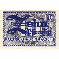 Banknote - R.251  10  Pfenning ohne Datum 1948