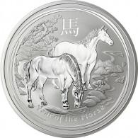 10 Oz Silber Jahr des Pferdes Australien Lunar II 2014