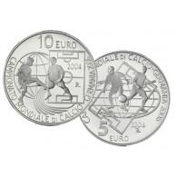 5  Euro 10 Euro Sammlermünzen San Marino Fußball WM