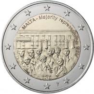2 Euro Sondermünze Malta 2012 Mehrheitswahlrecht mit Merkurstab