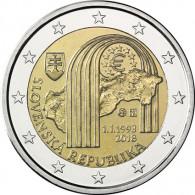 "2 € Sondermünzen ""25 Jahre Republik Slowakei"""