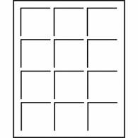 343108 -  Tableaus S - Format  12 Felder  50 x 50 mm