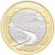Finnland 5 Euro 2018 bfr. Landschaften-Serie - Oulankajoki Muenzen