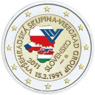 Slowakei 2 Euro 2011 bfr. 20 J. Visegrad Abkommen in Farbe