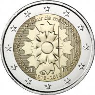 Frankreich 2 Euro Gedenkmünzen 2018 Kornblume