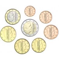 2 Euro bis 1 Cent Euro Münzen aus Holland Niederlande von 2018 König Alexander Willem