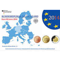 Deutschland 5,88 Euro-Kurssatz 2014 PP  Mzz: A