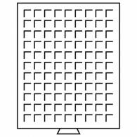 333127 -  Münzbox MB mit eckigen Einteilungen rauchfarben