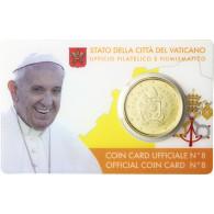 Vatikan 50 Cent 2017 Papst Coin Card No 8