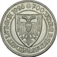 Weimarer Republik- Silber-Gedenkmünze J. 323  Lübeck  3 Reichsmark   1926