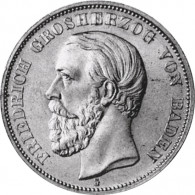 J.27 Baden 5 Mark 1875 -1888 Friedrich I