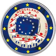 Niederlande 2 Euro 2015 bfr. 30 Jahre Europa-Flagge in Farbe