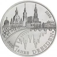 Deutschland 10 Euro  Silbermünze 2006  800 Jahre Dresden