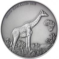 Silbermünze Gabun Giraffe Silberunze 2016