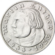 J. 352 - Drittes Reich 2 Mark 1933  Martin Luther