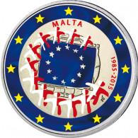Malta 2 Euro 2015 bfr. 30 Jahre Europa-Flagge in Farbe
