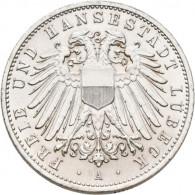 Kaiserreich 2 Mark 1904 - 1912 Stadtwappen Lübeck J.81 I