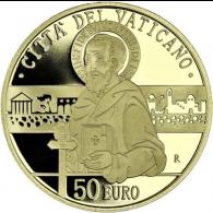 Vatikan-50-Euro-2020-Der-heilige-Paulus-mit-Schwert-Gold-PP-I