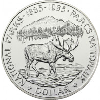 Kanada 1 Dollar 1985 Silber       Nationalpark - Elch