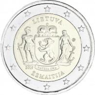 Litauen 2 Euro Gedenkmünzen 2019 Zemaitija Regionen