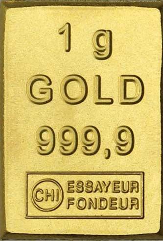 Goldbarren 1 Gramm Feingold Tafelbarren CombiBar Minigoldbarren