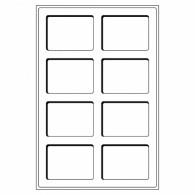 300028 -  Tableaus 8 Faecher bis 64 x 86 mm 2er Set