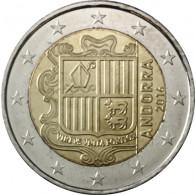 Andorra 2 Euro Muenzen Staatswappen 2016