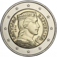 Kursmünze Lettland Milda 2 Euro