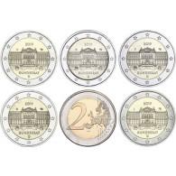 Neue 2 Euro Münze 2019  Bundesrat – Serie Bundesländer Gedenkmünzen Satz