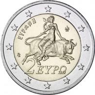 Kursmünze aus Griechenland  2 Euro 2018 mit dem Motiv Europa auf dem Stier