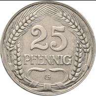 Kaiserreich-25-Pfennig-1909-1912-Jäger-18-I