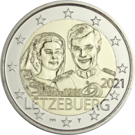 Luxemburg-2-Euro-2021-Hochzeitstag-von-Henri-Mzz-Bruecke-in-Karte-I
