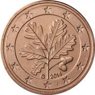 Deutschland 5 Euro-Cent 2014 Kursmünze mit Eichenzweig