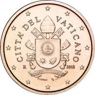 5  Euro Cent  Münzen aus dem Vatikan mit dem Papstsiegel  von Franziskus 2018