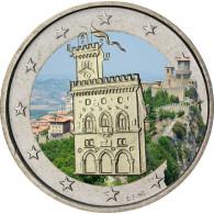 2 Euro Regierungsplast San Marino in FARBE