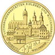 100 Euro Gedenkmünze 1/2 oz Feingold Luthergedenkstätten Eisleben und Wittenberg 2017