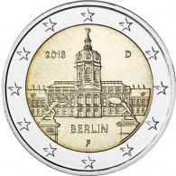 Deutschland 2 Euro 2018  Schloss Charlottenburg - Berlin Mzz. F