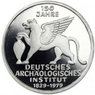 Deutschland 5 DM Silber 1979 PP Archäologisches Institut in Münzkapsel