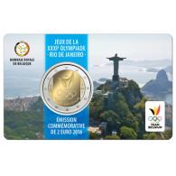 Belgien 2 Euro Gedenkmünze  2016 stgl.  Olympisches Team in Rio  Coin Card