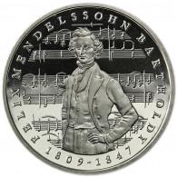 Deutschland 5 DM 1984 PP Felix Mendelssohn Bartholdy in Münzkapsel