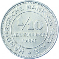 N 37 -  1/10 Verrechungsmarke Hamburger Bank 1923