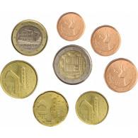 Andorra 3,88 Euro 2015 bfr, lose 1 Cent bis 2 Euro  im Münzstreifen