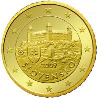 Slowakei 50 Cent 2009 bfr. Burg von Bratislava