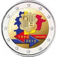 Andorra 2 Euro 2015 Stgl. 25 Jahre Zollunion mit der EU FARBE