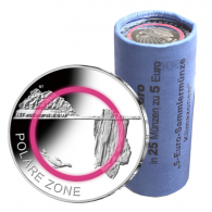 Deutschland-25-x-5-Euro-2021-Polare-Zone---Münzen-in-Rolle