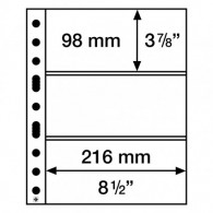358074-  Kunststoffhüllen SH 312 , 3 Taschen Banknoten Zubehoer